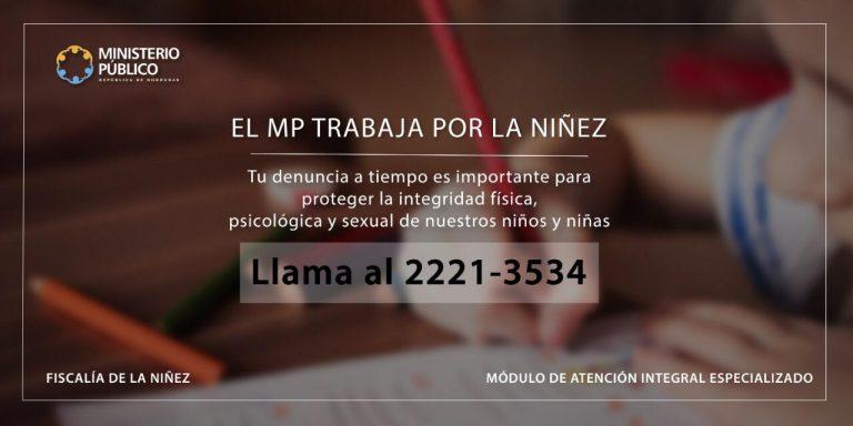 NIÑEZ RÓTULO MP TRABAJA POR LA NIÑEZ