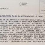 Recurso de inconstitucionalidad reactivación del fondo departamental