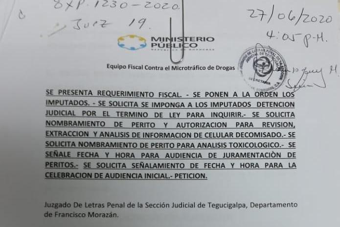 requerimiento fiscal microtráfico de drogas colonia izagurre
