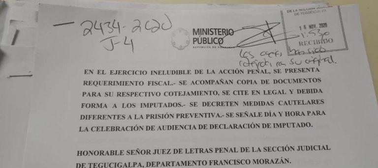 Acusaciones por falsificación de documentos interponen Fiscales para el Enjuiciamiento de Funcionarios y Servidores del Sector de Justicia