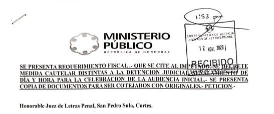 Fiscalía para el Enjuiciamiento de Funcionarios y Servidores del Sector Justicia interpone nuevos Requerimientos Fiscales