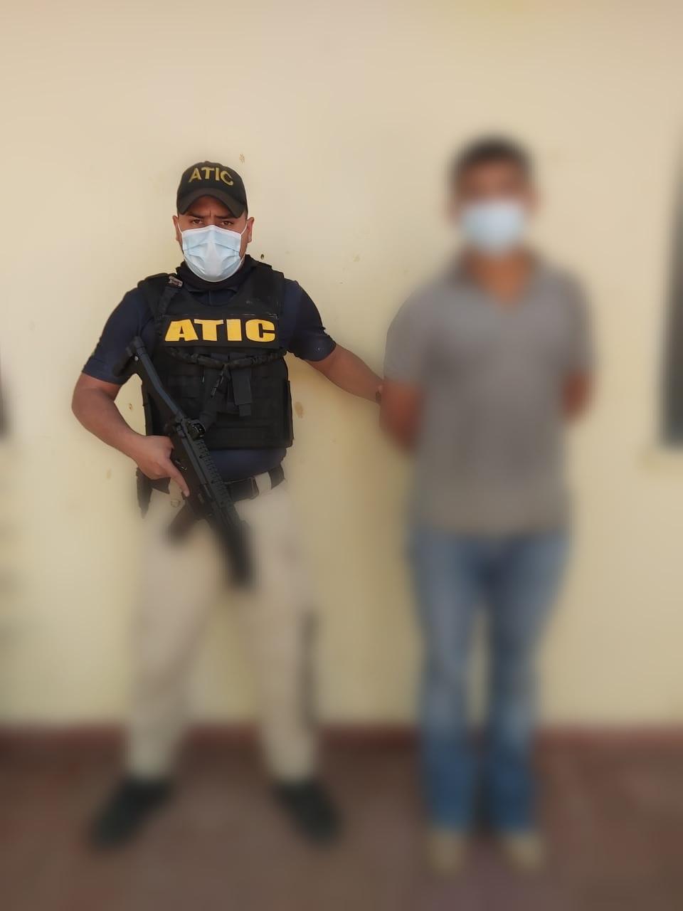 ATIC captura a sujeto en El Paraíso por presunta violación en perjuicio de menor de edad