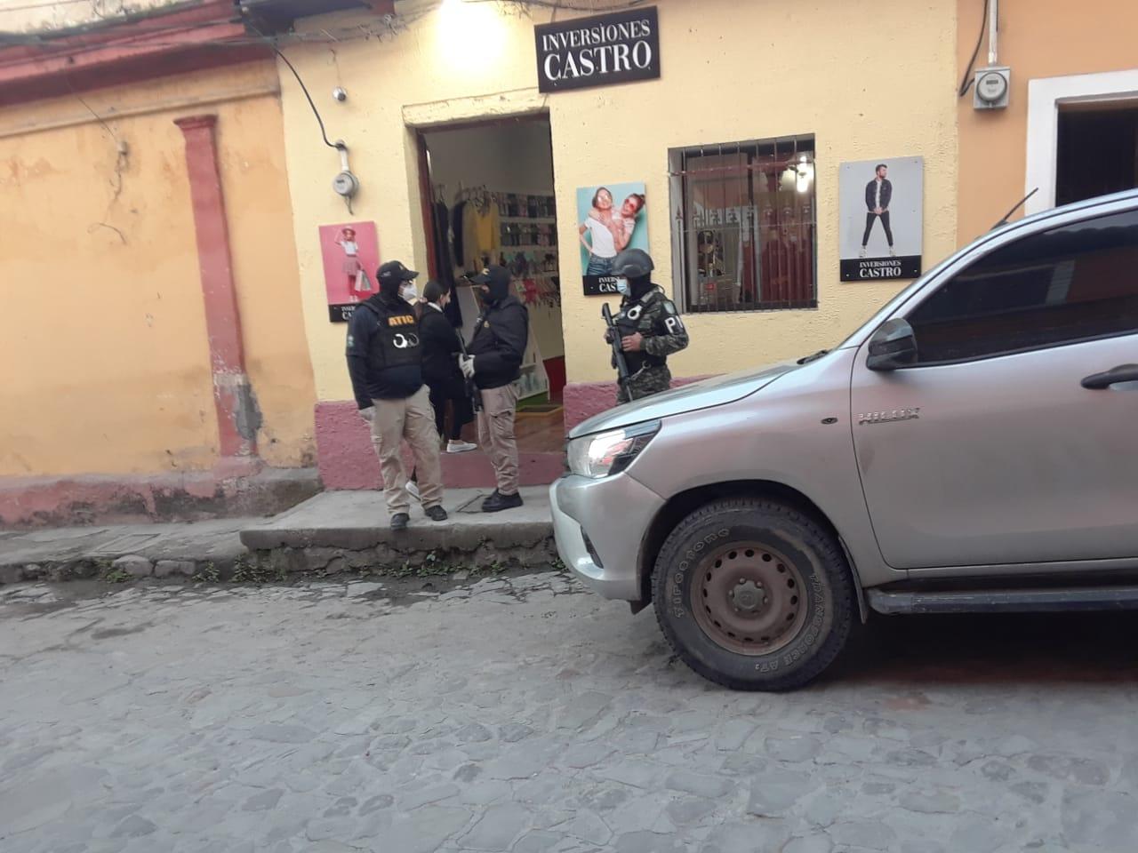 ATIC ejecuta cuatro allanamientos en Copán donde se reporta una detención infraganti por tráfico de drogas