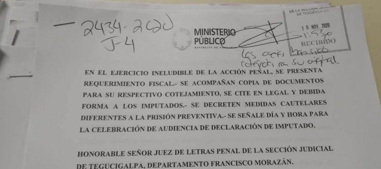 AUDIENCIA CONTRA EX EMPLEADOS DEL MP