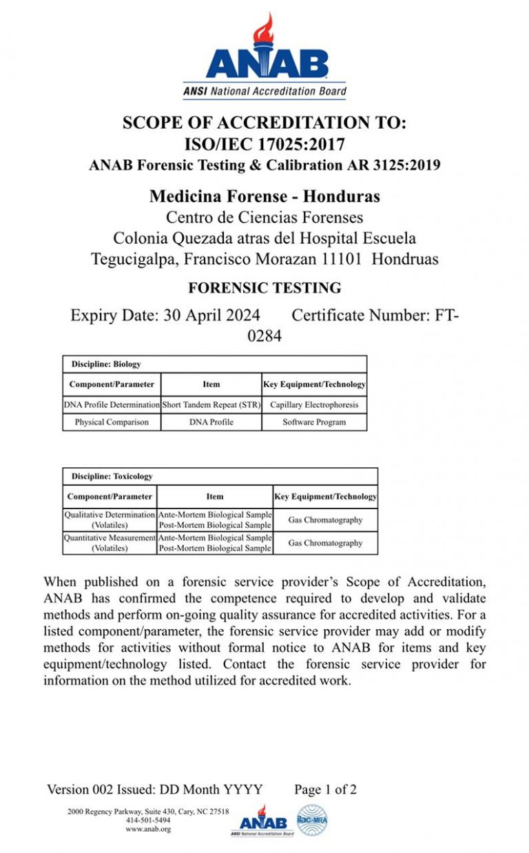 certification medicina forense