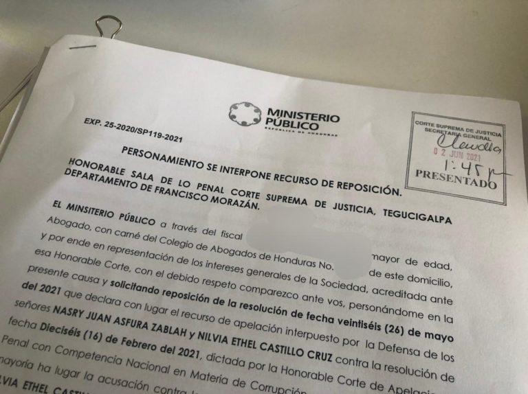 MP contra pone desición de la corte suprema