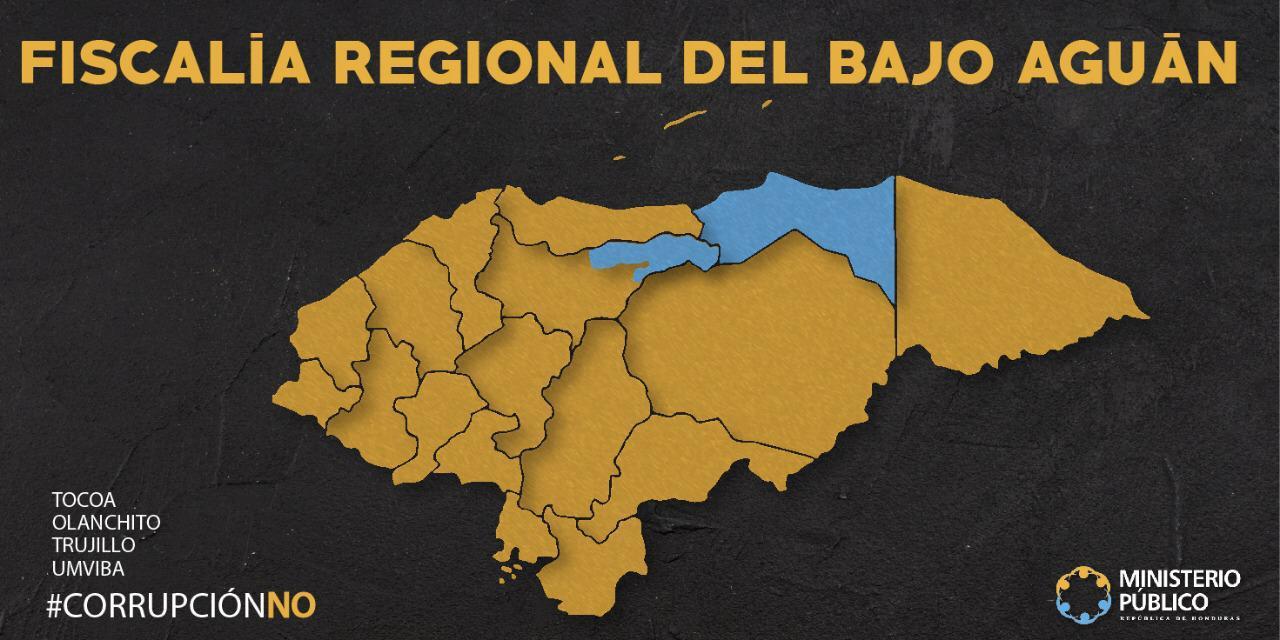 Mapa Fiscalía Bajo Aguán