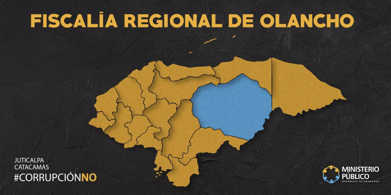 Mapa Fiscalía regional de Olancho
