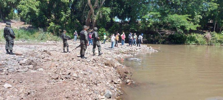 inspección en zona de río central